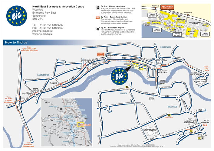 North East Bic location directions map