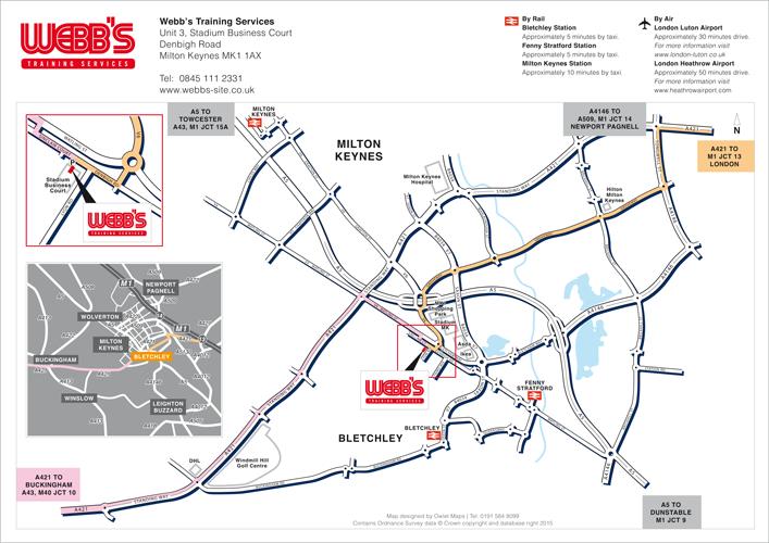 Webbs Milton keynes business location map