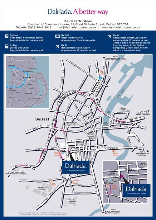Dalriada business location map